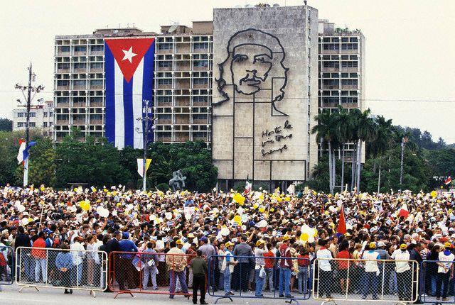 Papa Juan Pablo II en la Plaza de la Revolución