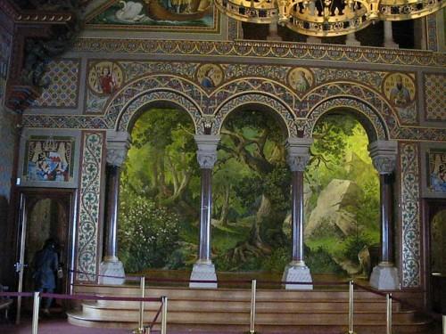 Salón de los cantores de Neuschwanstein