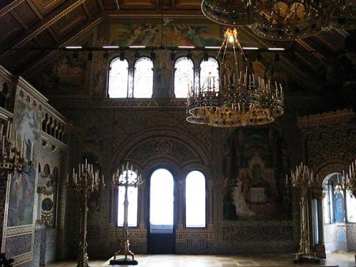 Salón de los cantores del castillo de Neuschwanstein