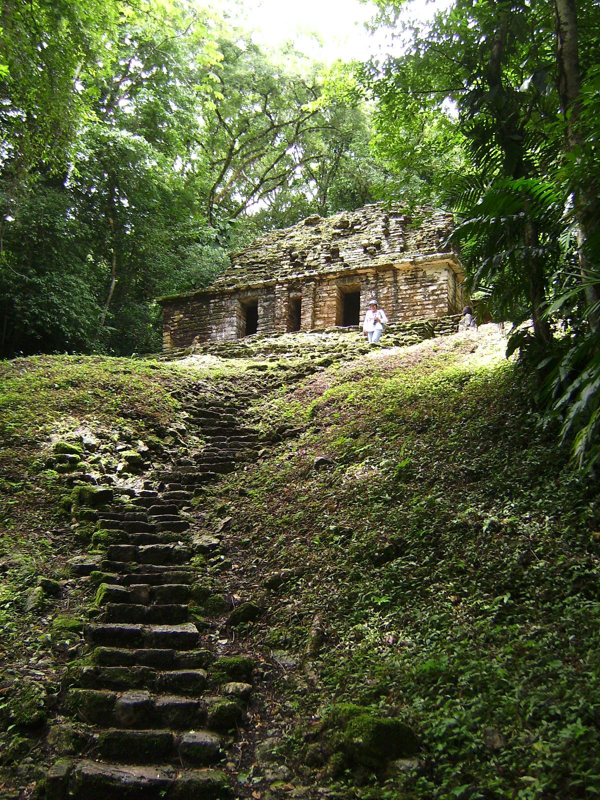 Palacio de las ruinas de Yaxchilán