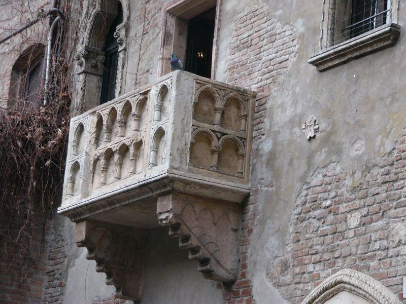 El balcón de Julieta en Verona