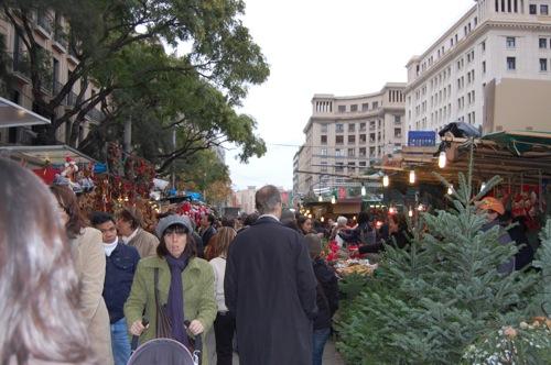 Paseando por la Fira de Santa Llúcia de Barcelona