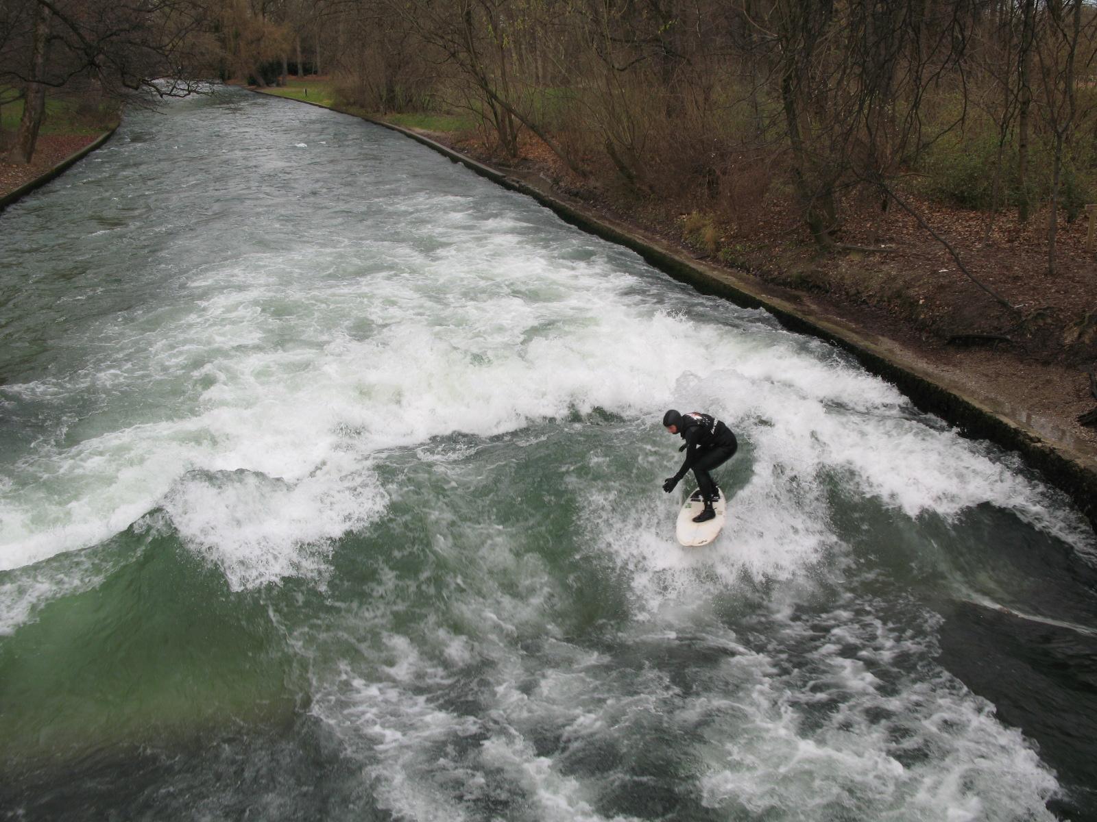 Surfeando en Munich