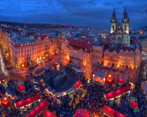 Mercadillo Navidad de Praga en 2007