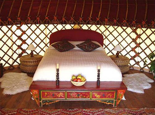 Yurta mongol en Cádiz - Interior