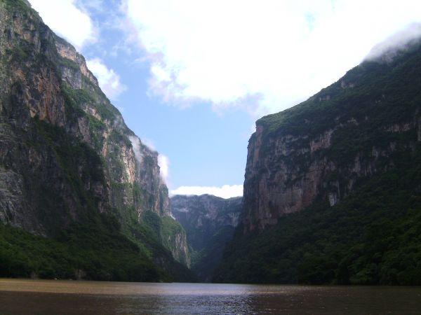 Paredes del cañón del Sumidero en Chiapas
