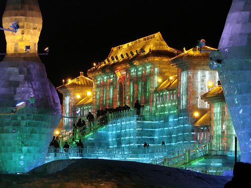 Ciudad de hielo en Harbin