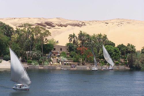 Falucas en Aswan @3viajes