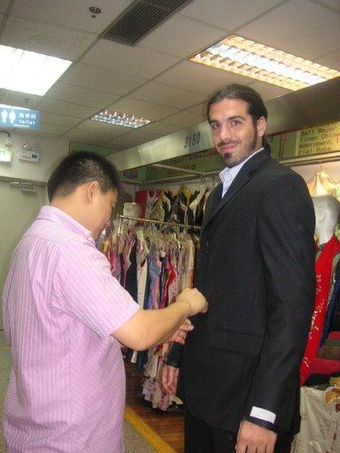 Comprando trajes en China