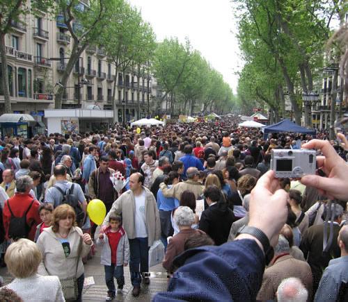 Celebración de Sant Jordi en Barcelona