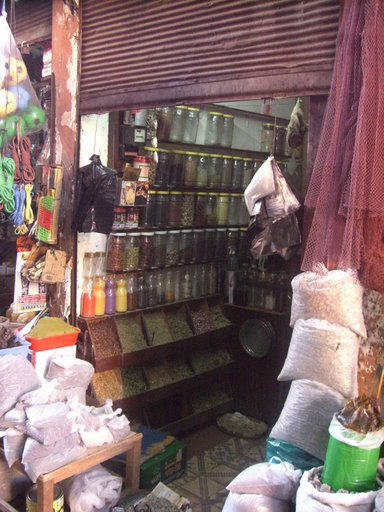 Tienda en el zoco de Marrakech