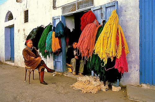 Vendedor en el zoco de Sidi Bu Said