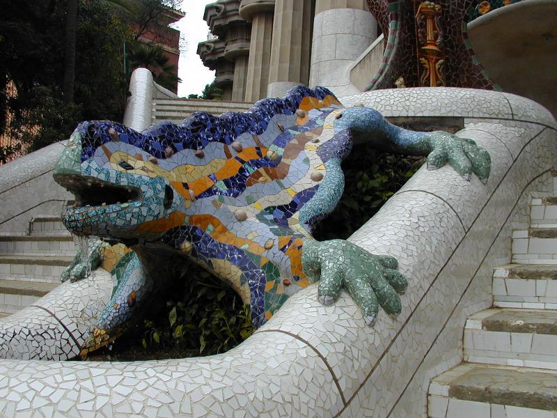 El dragón del Park Güell