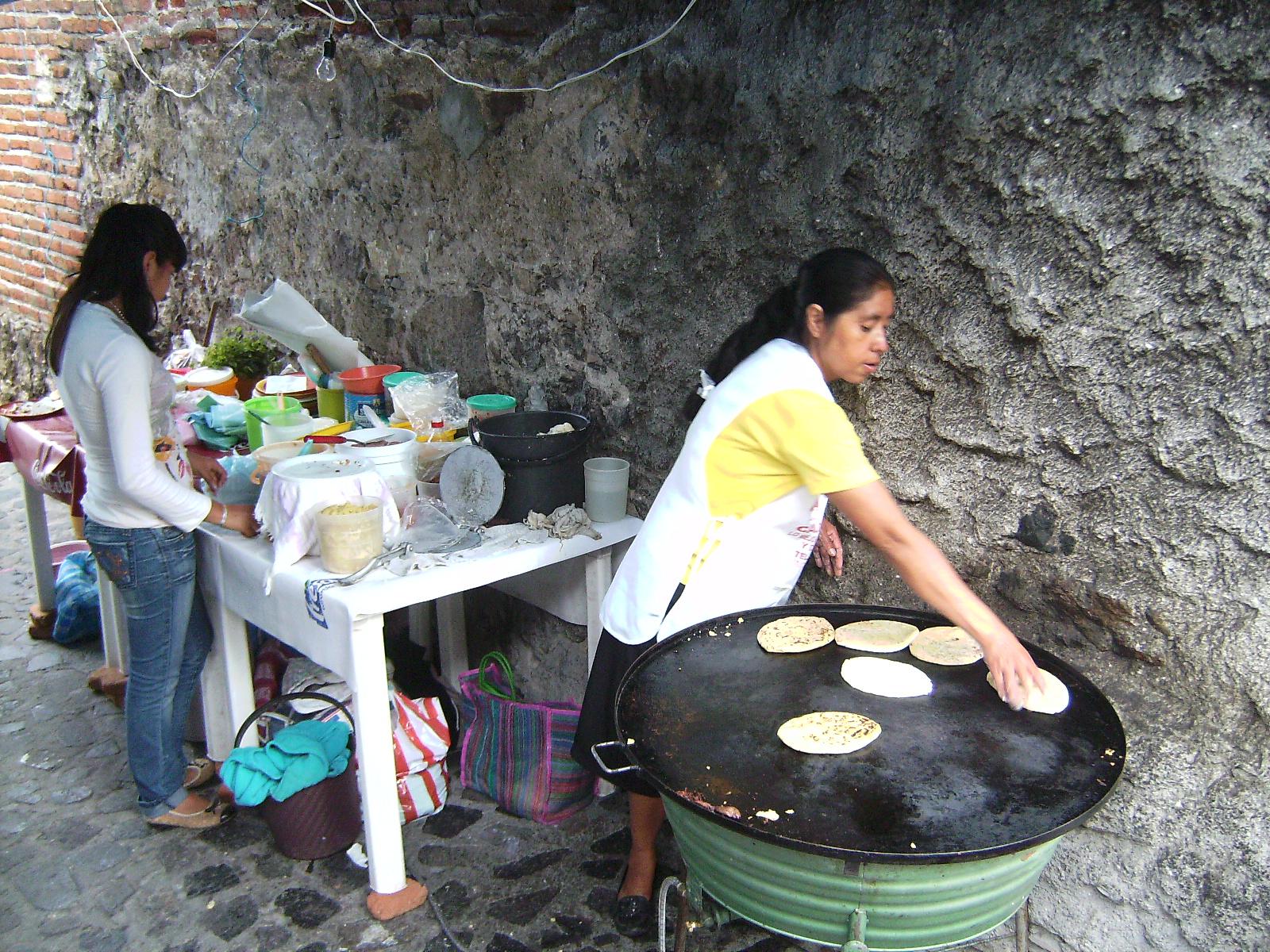 Comida en la calle de Taxco, México