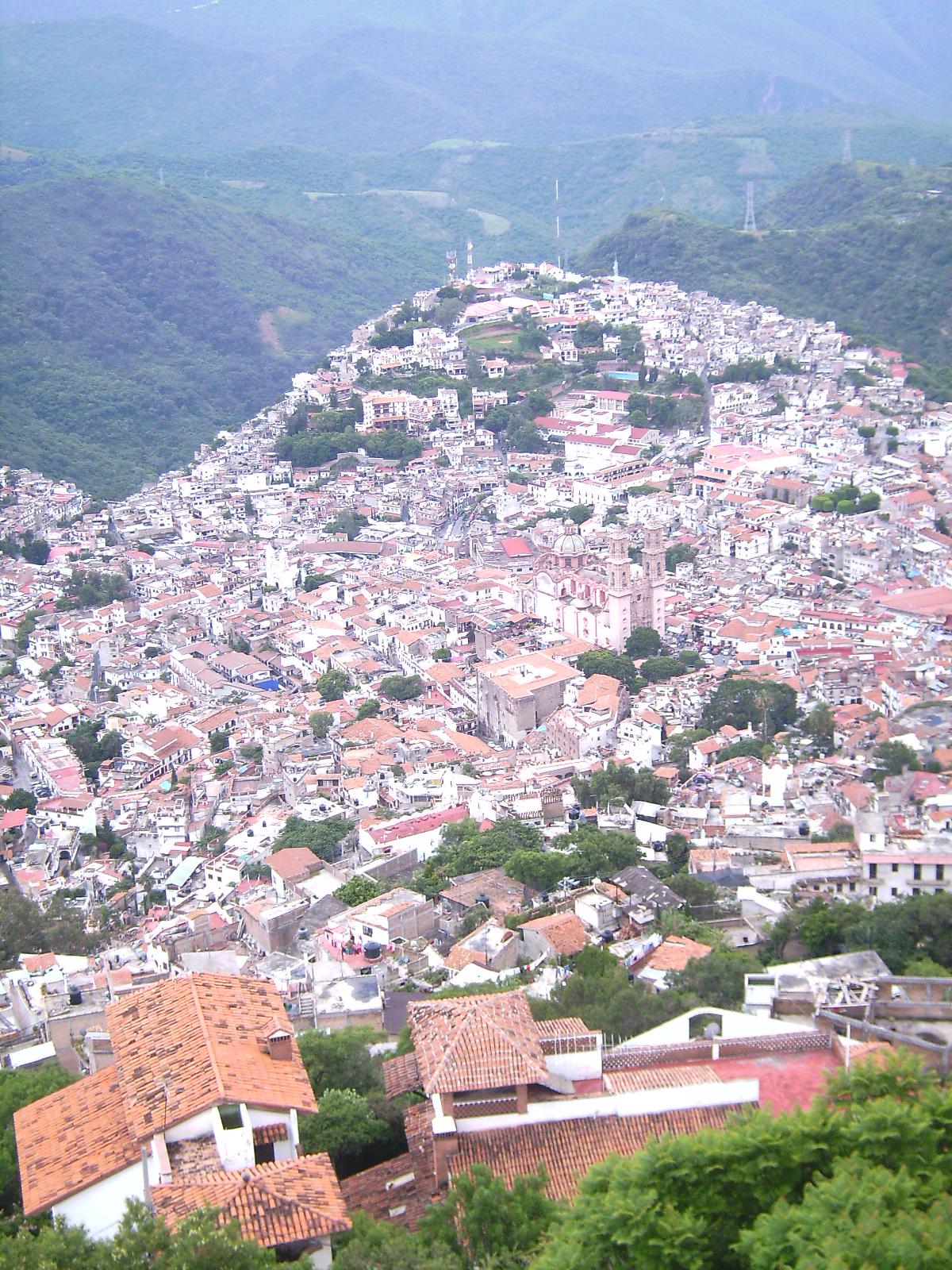 Vista de Taxco desde el Cristo