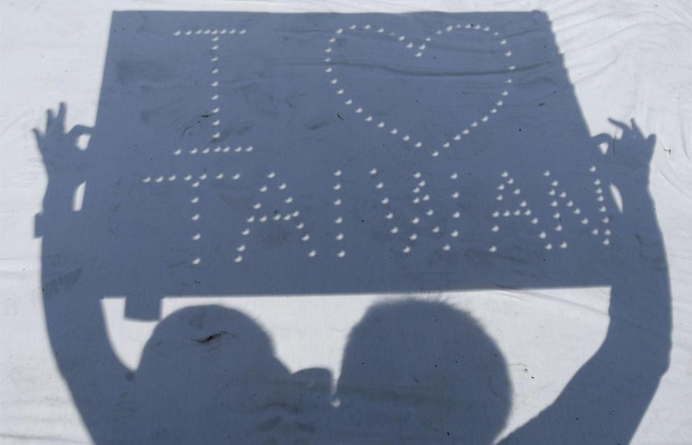 El eclipse desde Taiwan