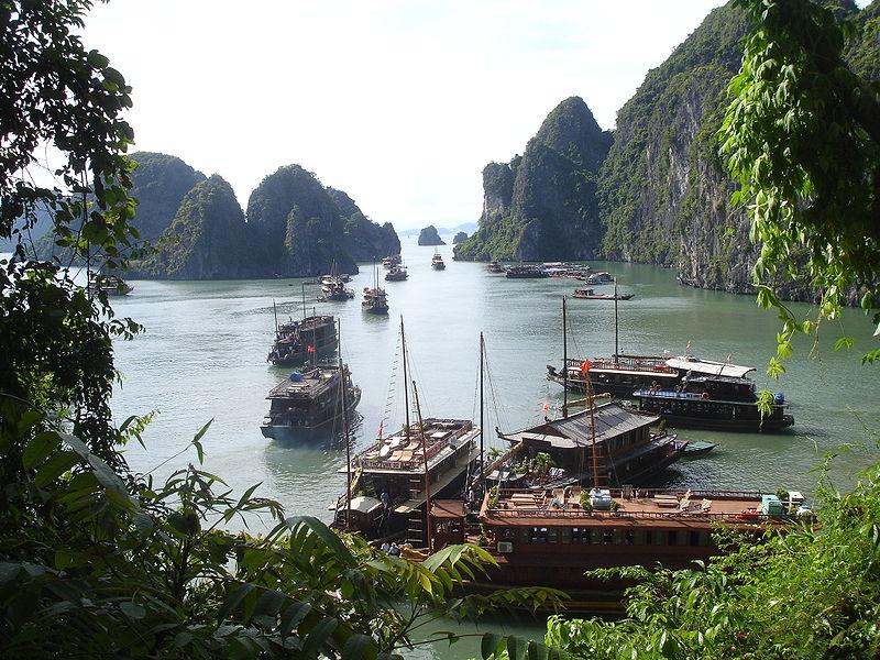 La bahía de Halong en Vietnam