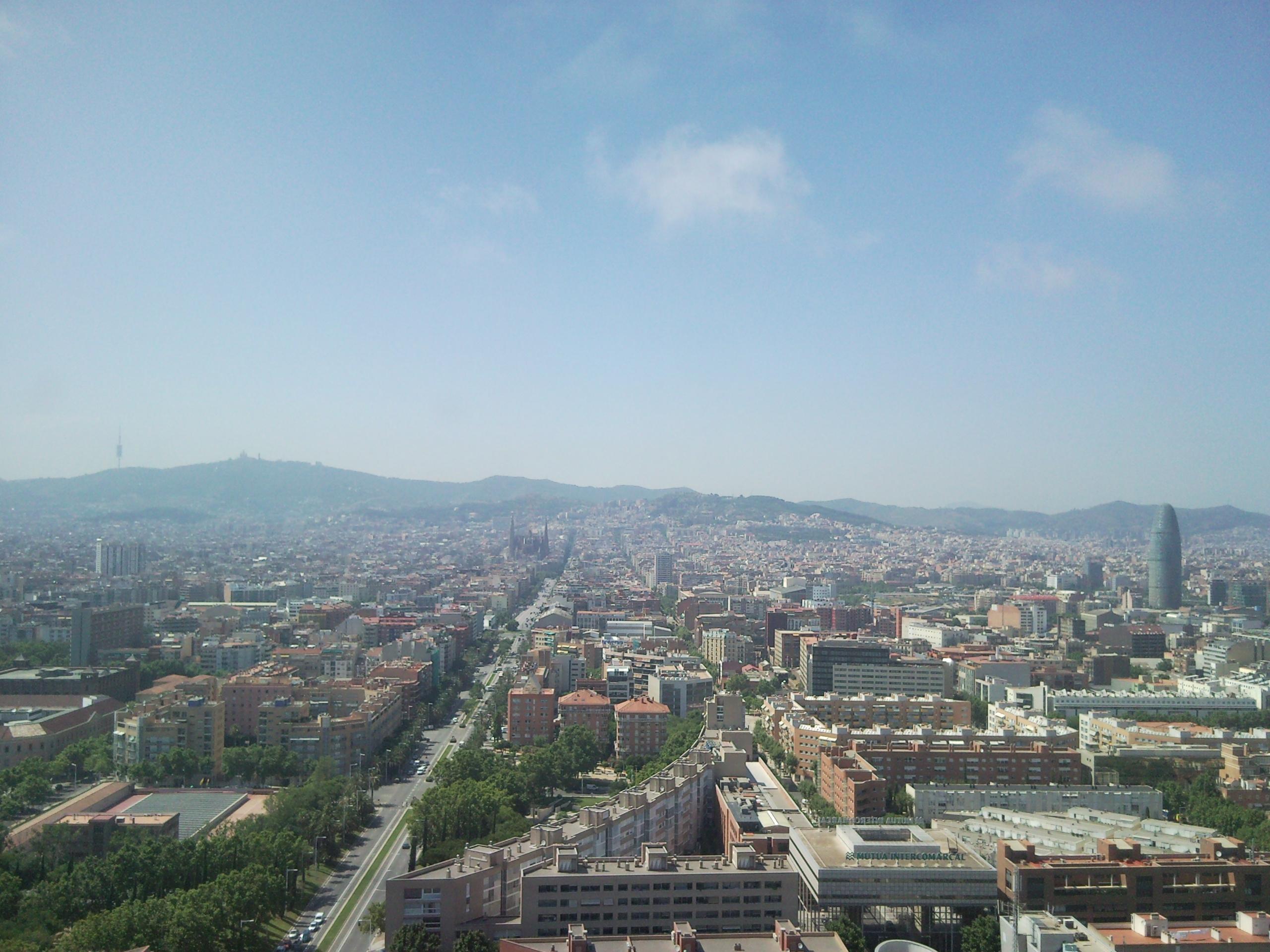 Vistas de la calle Marina de Barcelona