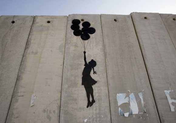 Grafiti de Bansky en Palestina