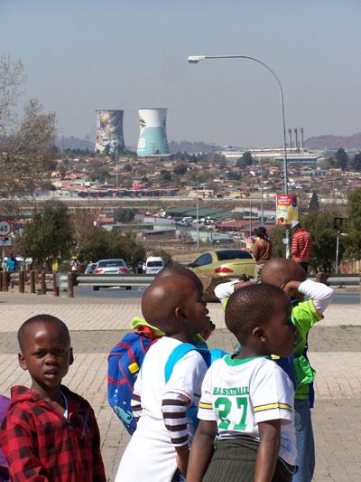 Niños en el Soweto