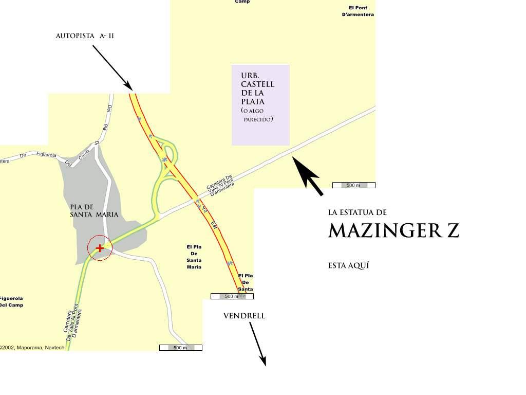 Cómo llegar al Mazinger Z de Tarragona
