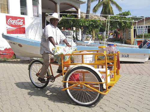 Vendedores ambulantes de Puerto Escondido
