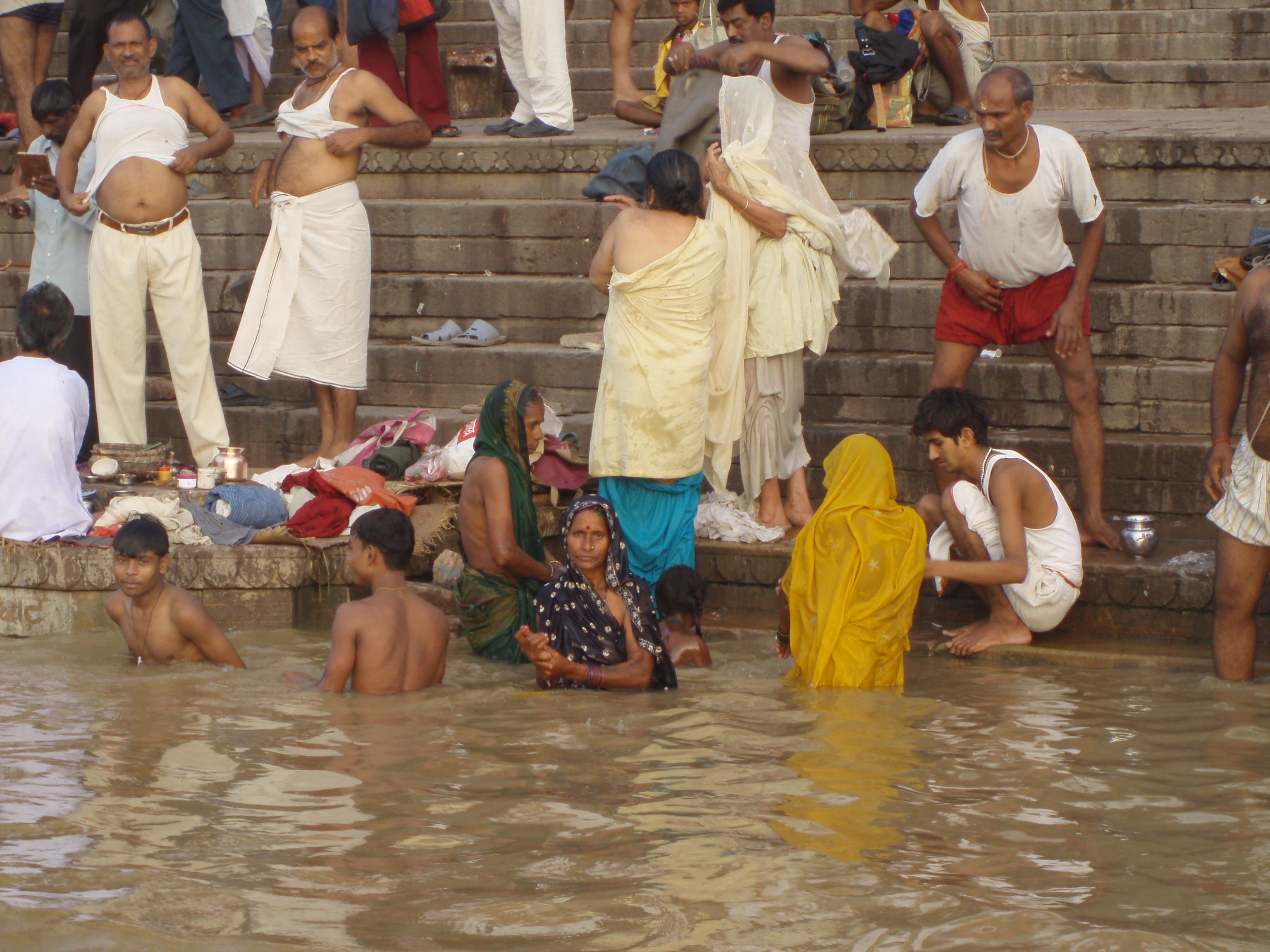 Ghat en Benares @Doris Casares