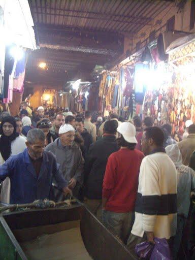 Perdido en la medina de Marrakech