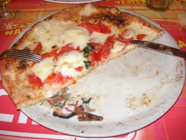 Pizza en Roma