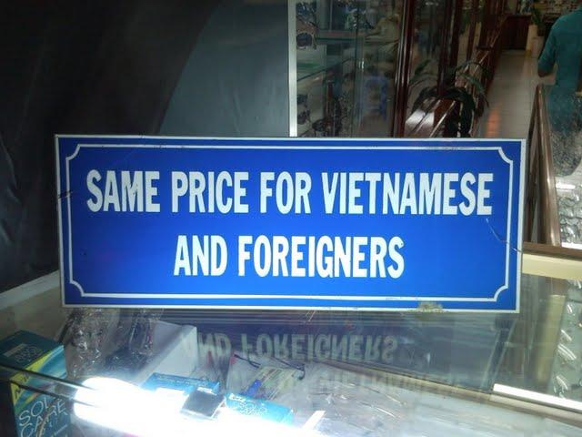 El mismo precio para vietnamitas y forasteros