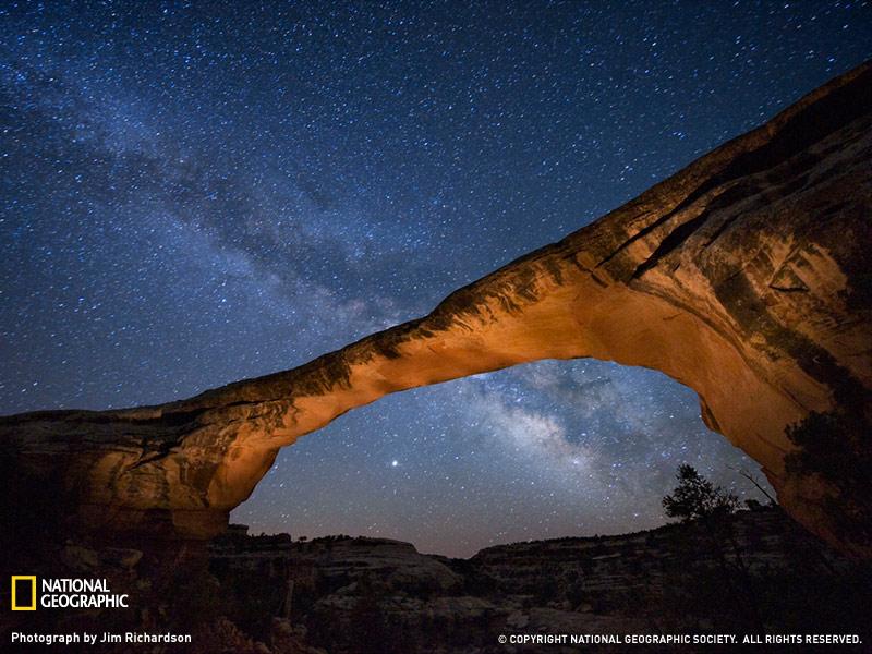 Puente Owachomo en una noche estrellada