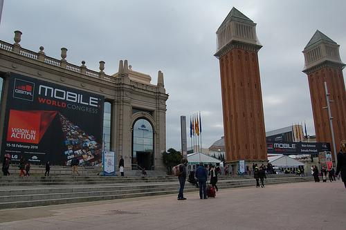 Entrada del MWC 2010 de Barcelona