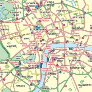 Mapa de los distritos de Londres