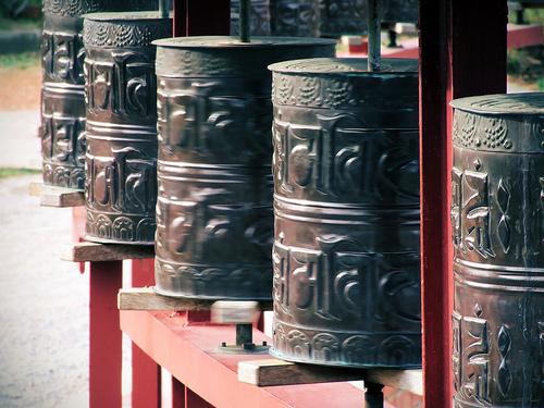 Mantras del monasterio budista del Garraf