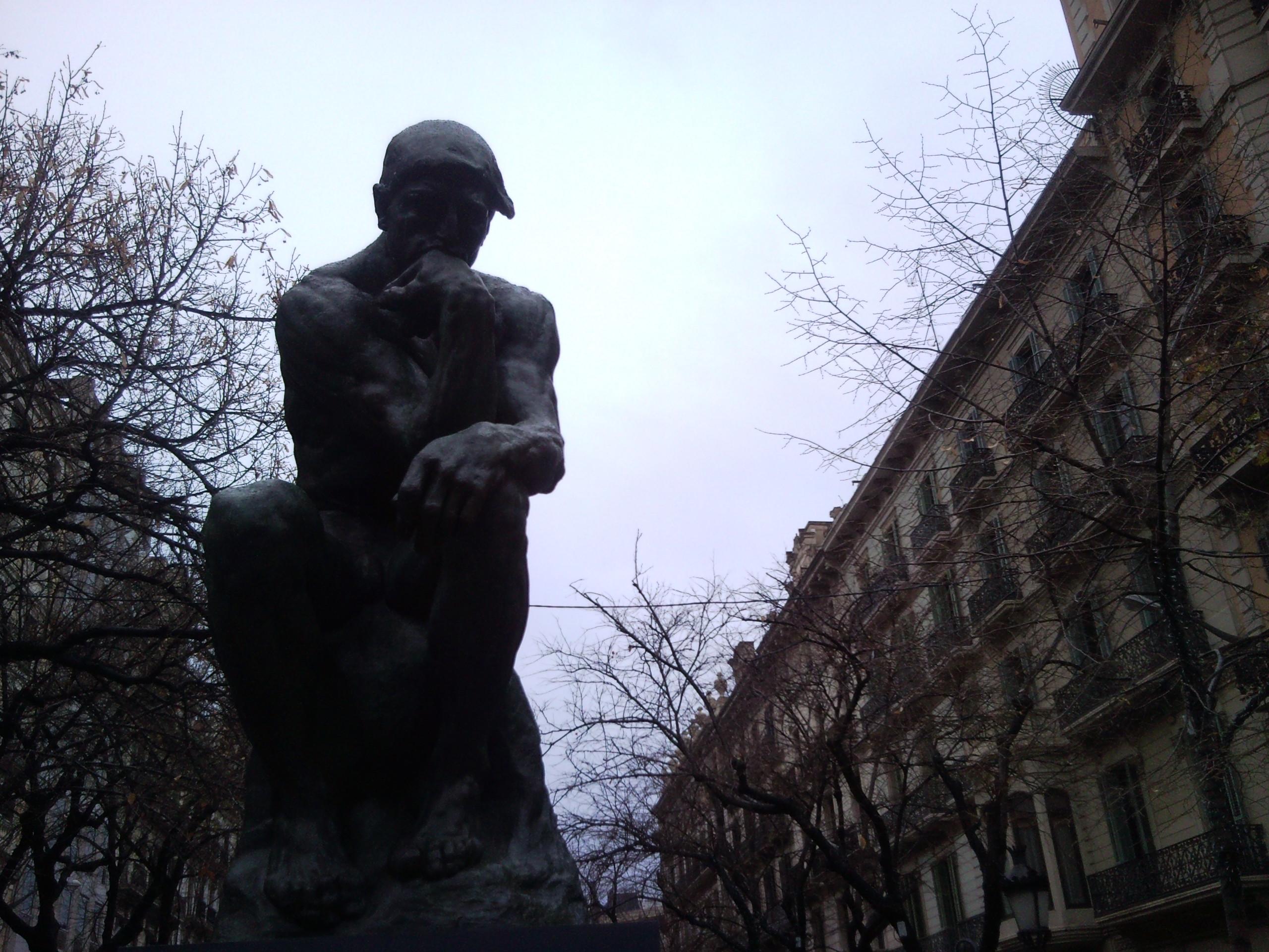 El hombre pensante de Rodin