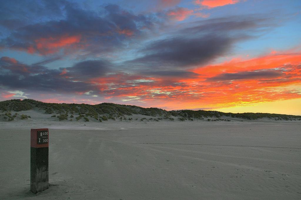 Puesta de sol en la playa de Terschelling