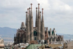 Vista de 2009 de la Sagrada Familia