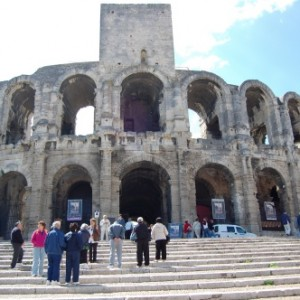 Anfiteatro romano y toros en la Provenza francesa