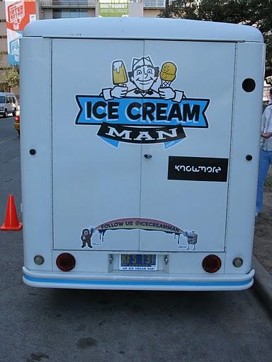 Camión de los helados con Twitter de Austin, TX