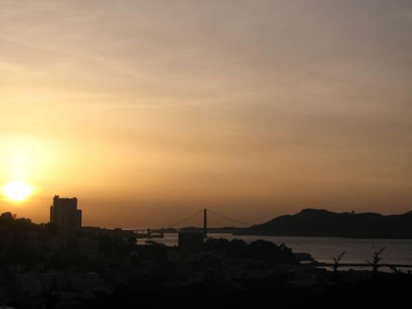 Puesta de sol desde la Coit Tower, San Francisco