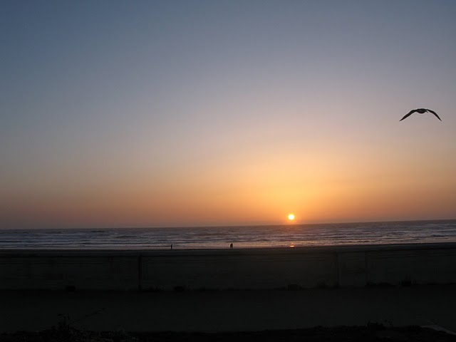 Puesta de sol en Ocean Beach, San Francisco