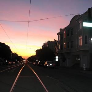 Puesta de sol en San Francisco