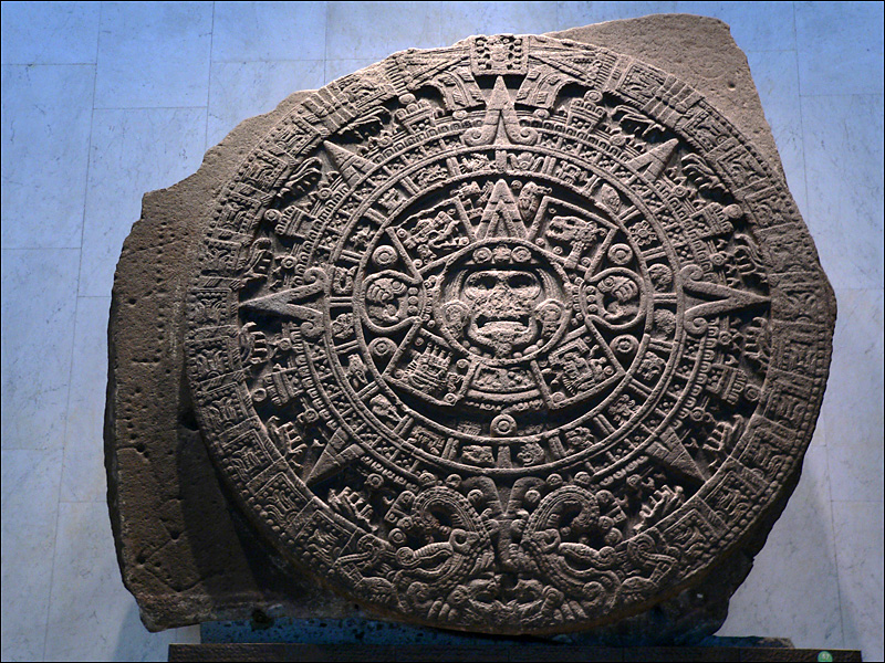 Piedra del Sol del Museo de Antropología de México DF