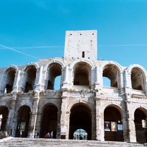 Fachada del anfiteatro de Arlés