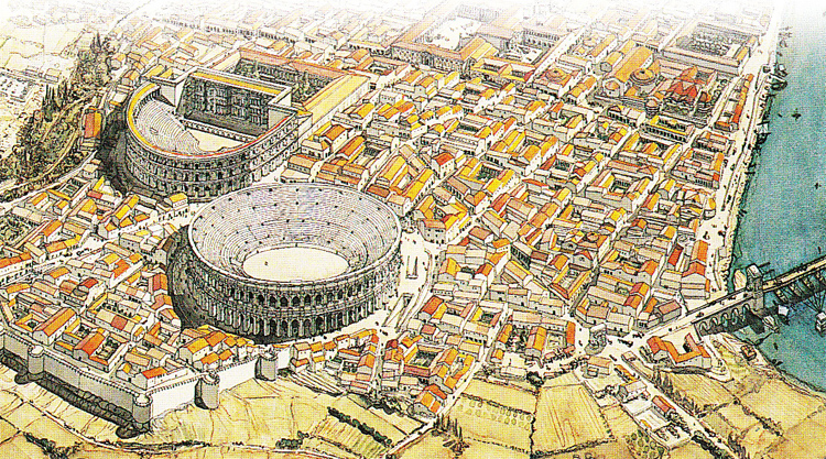 El anfiteatro romano de arles 3viajes - Casas en la provenza ...