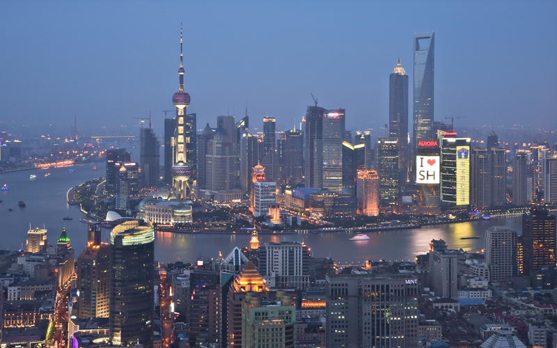 El Pudong de Shanghai en 2010