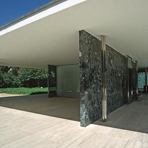 Pabellón de Alemania diseñado por Mies van der Rohe en Barcelona