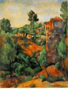 La carriere de Bibémus de Paul Cézanne