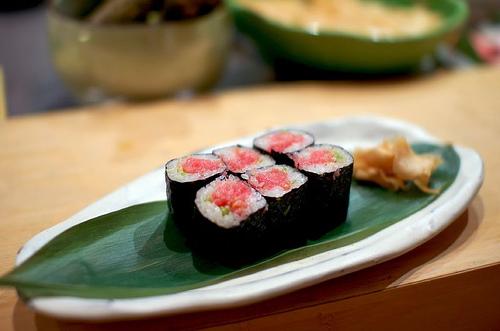 Negitoro en un sushi bar de Japón