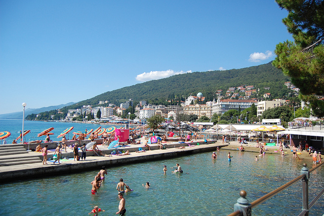 Playa en Croacia (Opatija)